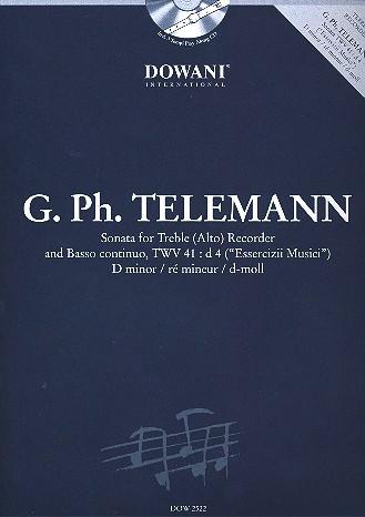 Telemann, Georg Philipp - Sonate d-moll - Altblockflöte und Bc. + CD