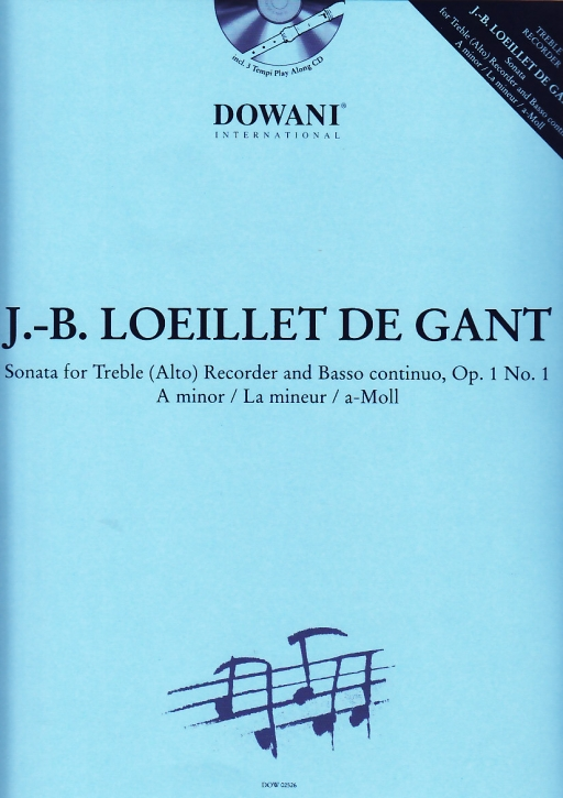 Loeillet, Jean Baptiste - Sonate a-moll - treble recorder + CD