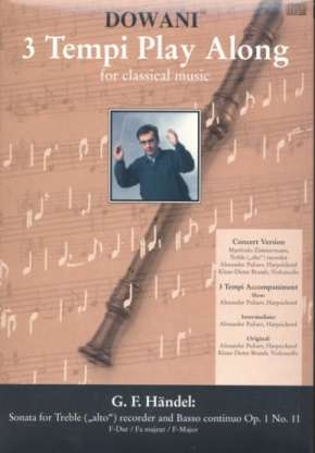 Händel, Georg Friedrich - Sonate op. 1 Nr. 11  F-dur -  treble recorder + CD