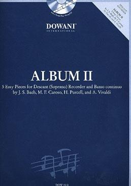 Album 2 - Five easy Pieces -  soprano recorder, Bc + CD