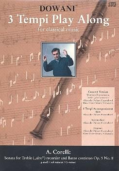Corelli, Arcangelo - Sonate g-moll op. 5 Nr. 8  -  treble recorder + CD