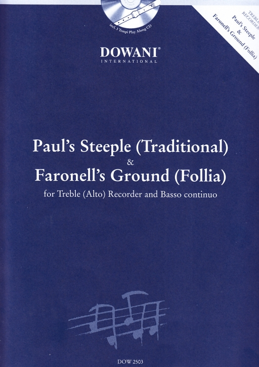 Traditionals - Paul's Steeple &  Faronell's Ground (Follia) - Altblockflöte und Bc. + CD