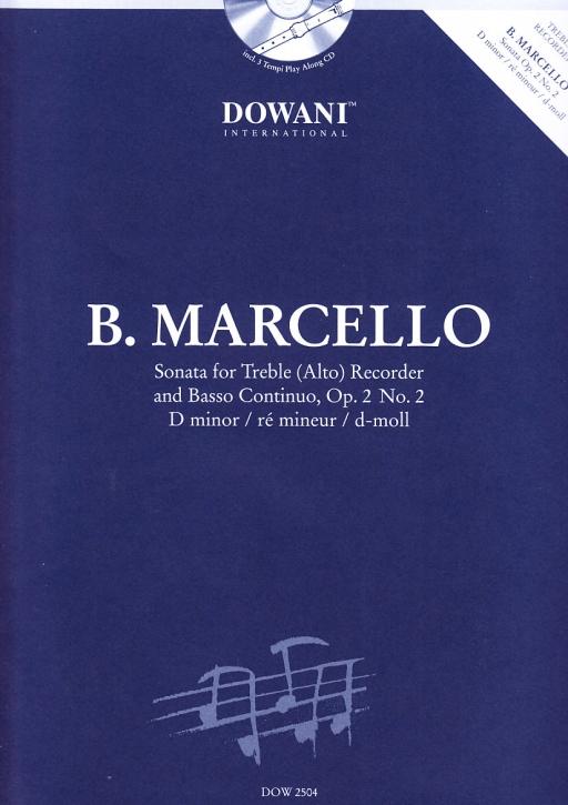 Marcello, Benedetto - Sonate d-moll  - Altblockflöte und Bc. + CD