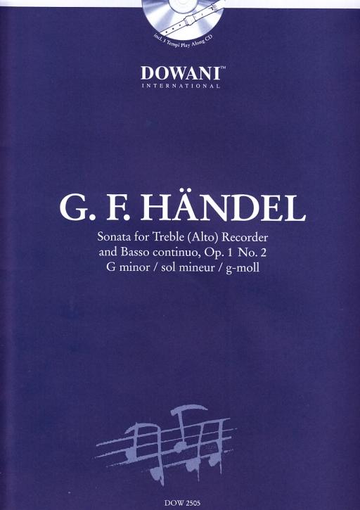 Händel, Georg Friedrich - Sonate op. 1 Nr. 2 g-moll - Altblockflöte und Bc. + CD