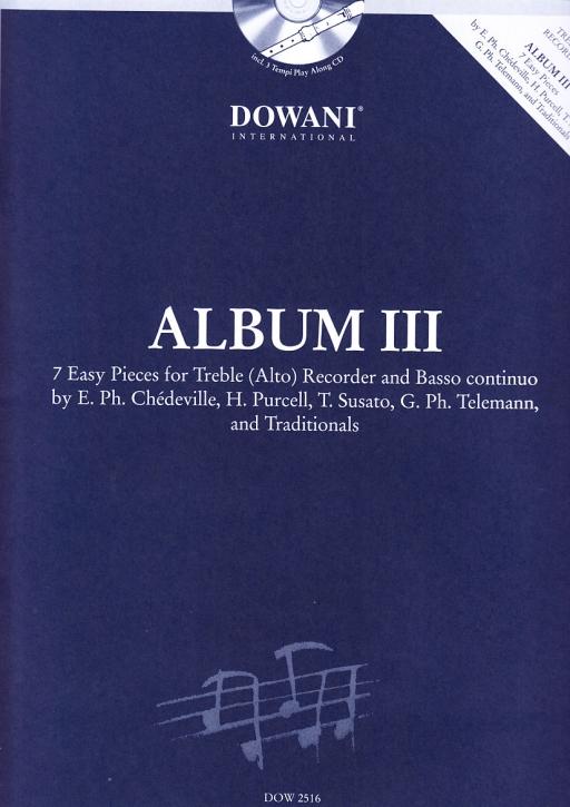 Album III - Sieben leichte Stücke-  treble recorder + CD