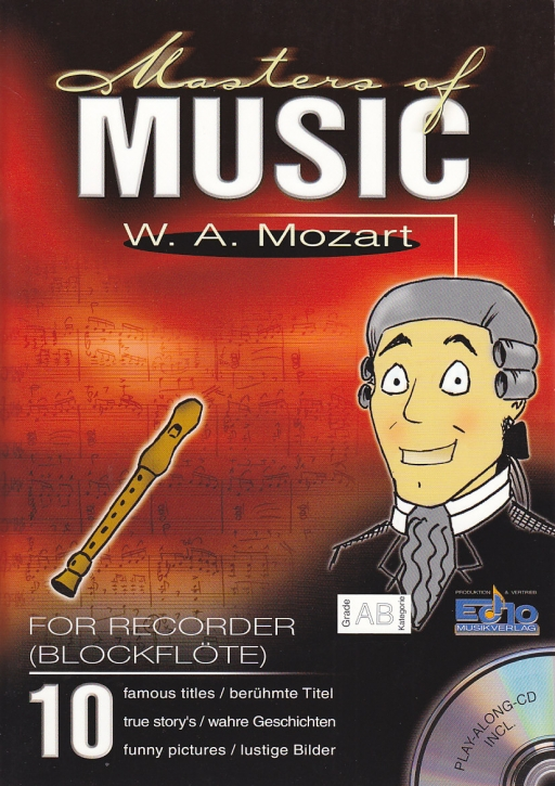 Mozart, Wolfgang Amadeus - Masters of Music - Soprano recorder + CD