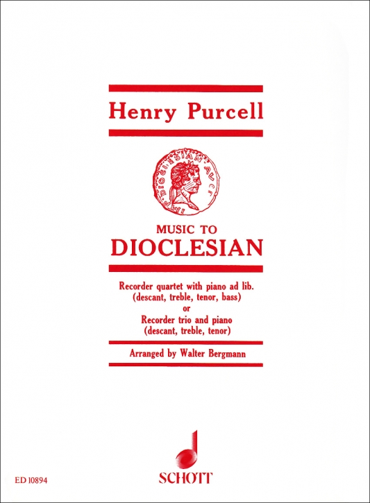 Purcell, Henry - Music to Dioclesian - SATB und Bc.