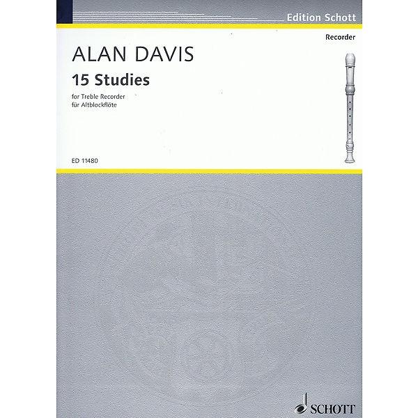 Davis, Alan - 15 Studien für Altblockflöte -