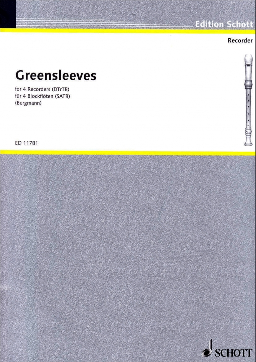 Greensleeves to a ground - recorder quartet SATB