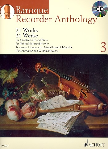Baroque Recorder Anthology  3 - Altblockflöte und Klavier/ Bowmann, Peter / Heyens, Gudrun + CD