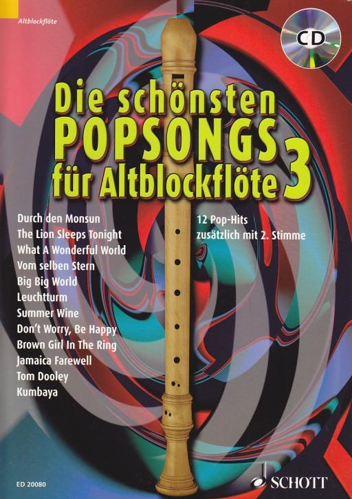 Wingerter, Harald - Die schönsten Popsongs Band 3 - 2 treble recorder + CD