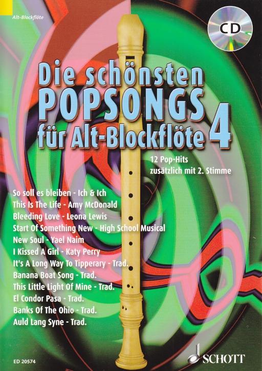 Bye, Uwe - Die schönsten Popsongs Band 4 - 2 Altblockflöten + CD