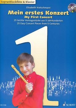 Mein erstes Konzert - Sopranblockflöte und Klavier, mit CD