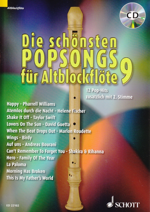 Bye, Uwe - Die schönsten Popsongs Band 9 - 2 Alto Recorder + CD