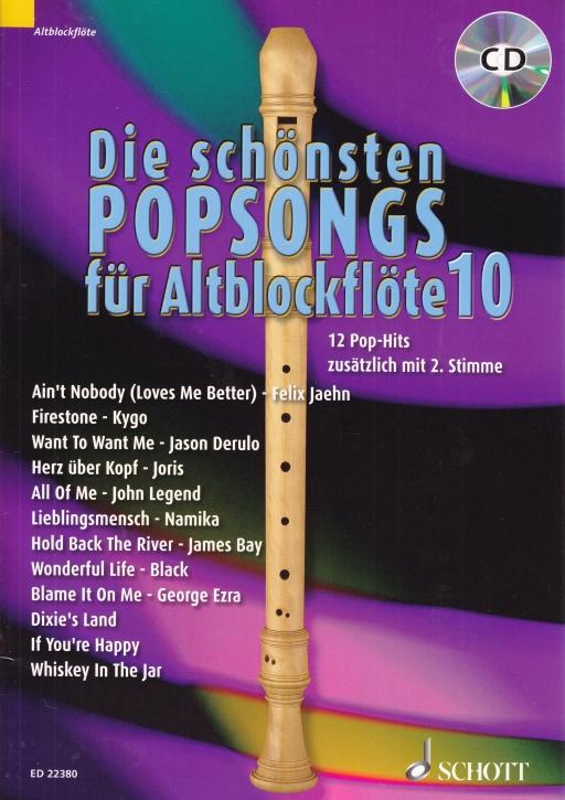 Bye, Uwe - NEW! Die schönsten Popsongs Band 10 - 2 Alto Recorder + CD