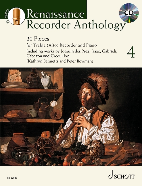 Bowmann, Peter / Heyens, Gudrun - Renaissance Recorder Anthology  4 - treble recorder, piano and CD