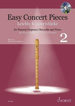 Easy Concert pieces 2 - soprano recorder and piano (+CD)