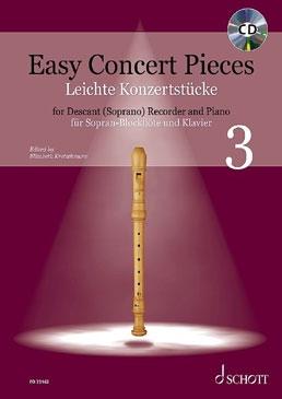 Easy Concert pieces 3 - soprano recorder and piano (+CD)