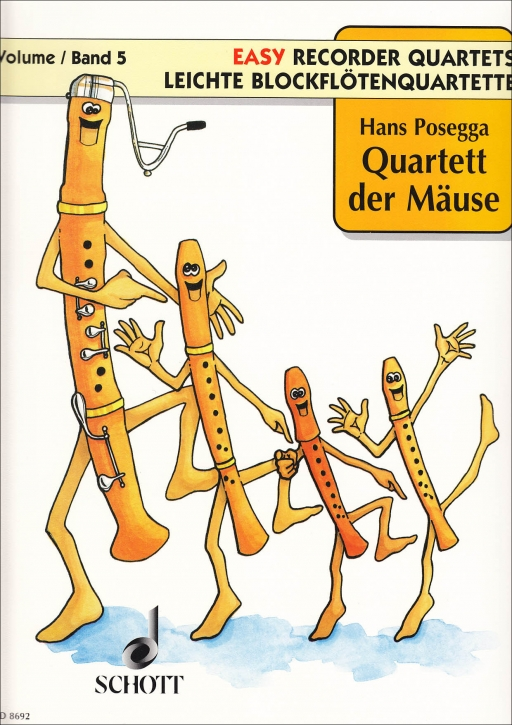 Posegga, Hans Leichte Blockflötenquartette Band 5 - Quartett der Mäuse - SATB
