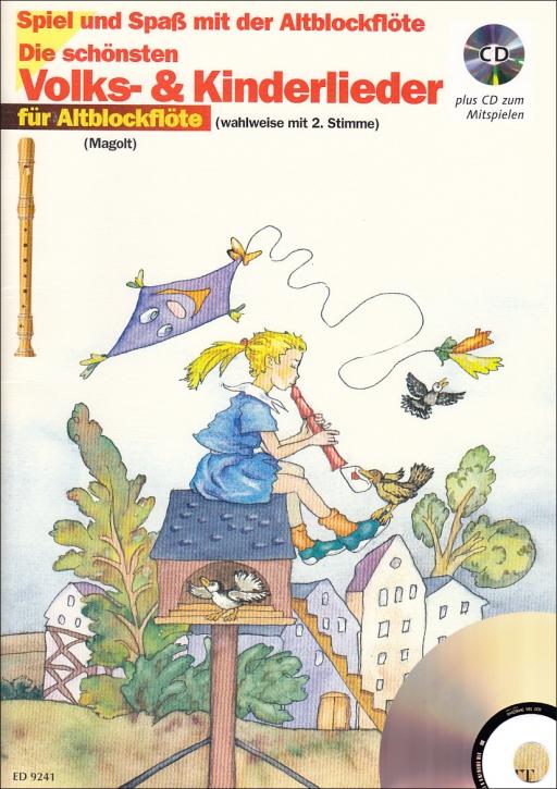 Spiel und Spaß mit der Blockflöte - Die schönsten Volks und Kinderlieder - 2 Altblockflöten + CD