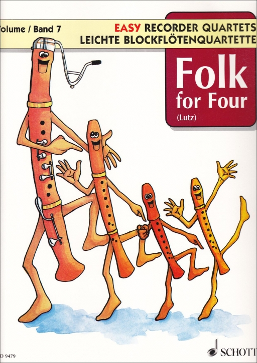 Folk for Four -  (Hrg. W. Lutz) Leichte Blockflötenquartette Band 7