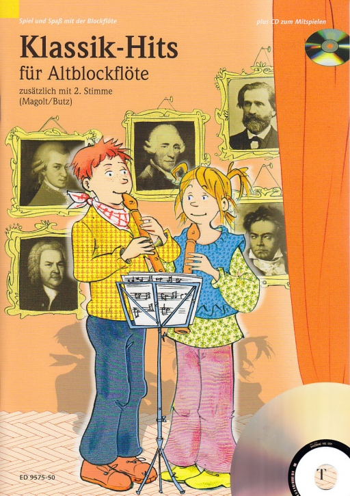 Spiel und Spaß mit der Blockflöte - Klassik-Hits - 2 treble recorder + CD