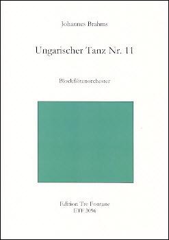 Brahms, Johannes -Ungarischer Tanz Nr. 11- Blockflötenorchester<br><br><b>NEU !</b>