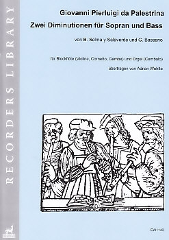 Salaverde, Bassano - Diminutions about themes of Palestrina - soprano recorder and harpsichord