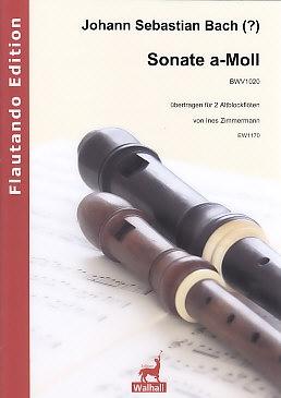 Bach, Johann Sebastian - Sonate a-moll BWV 1020 - 2 treble recorders