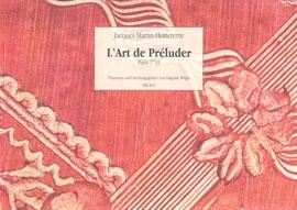 Hotteterre, Jaques - L'Art de Preluder - (Sopran-) Flöte solo