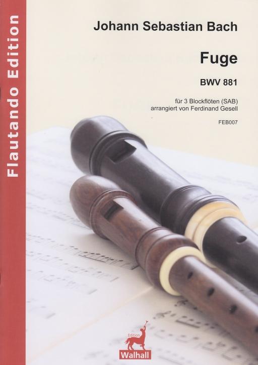 Bach, Johann Sebastian - Fuge f-moll -  BWV 881 - SAB