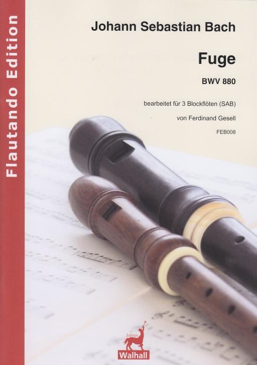 Bach, Johann Sebastian - Fuge F-dur -  BWV 880 - SAB