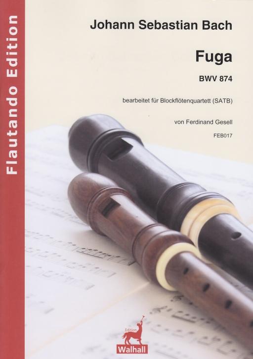 Bach, Johann Sebastian - Fuga D-dur -  BWV 874 - SATB
