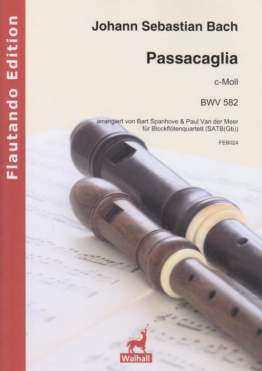 Bach, Johann Sebastian (Arr. Bart Spanhove) - Passacaglia c-moll -  BWV 582 SATB(Gb)
