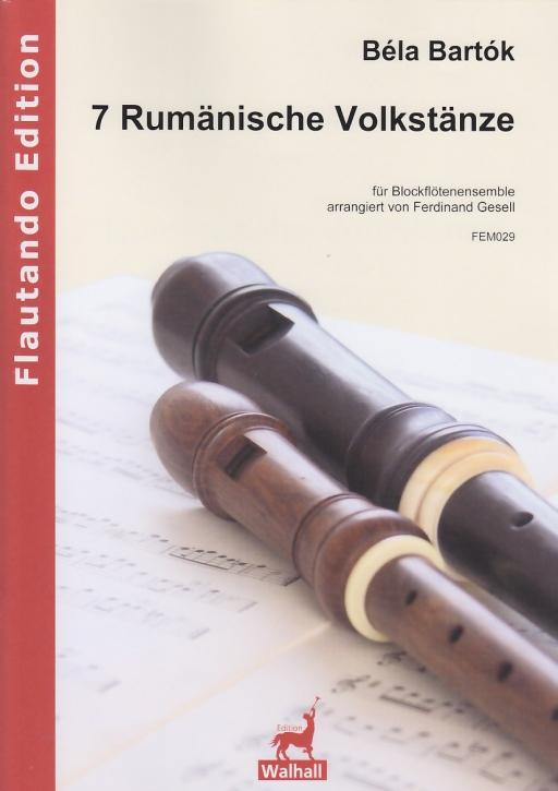 Bartók, Béla - 7 rumänische Volkstänze - Blockflötenorchester
