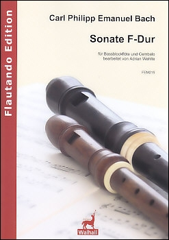 Bach, Carl Philipp Emanuel -Sonata F major - bass recorder and harpsichord<br><br><b>NEW !</b>