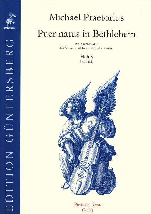 Praetorius, Michael - Puer natus in Bethlehem  - Blockflötenquartett  SATB - Partitur