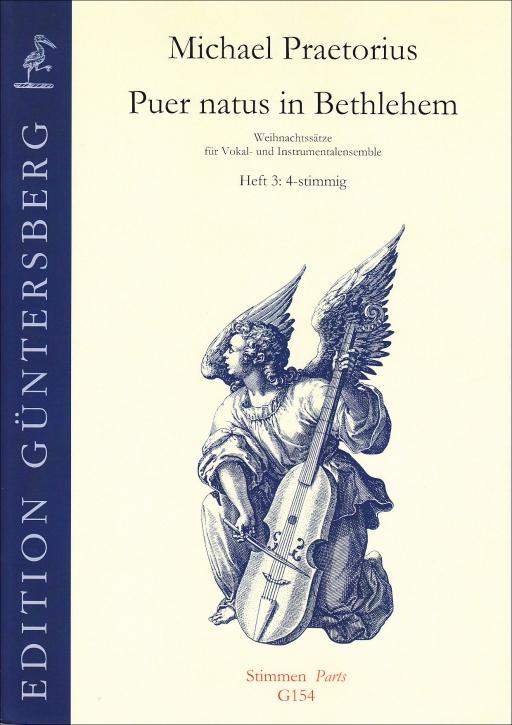 Praetorius, Michael - Puer natus in Bethlehem 3- recorder Quartet  SATB