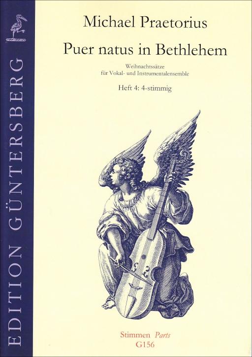 Praetorius, Michael - Puer natus in Bethlehem 4- recorder Quartet SATB