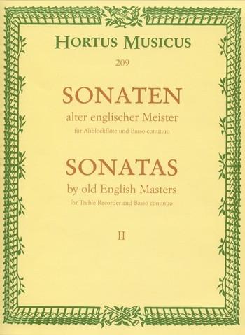 Sonaten alter englischer Meister - Heft 2 Altblockflöte und Basso continuo
