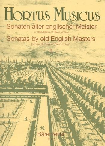 Sonaten alter englischer Meister - Heft 3 Altblockflöte und Basso continuo