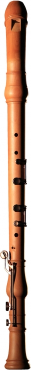 bass recorder Huber 930 Master bend neck, pearwood