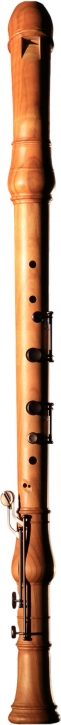 bass recorder Huber 935 Master, bend neck, cherrywood