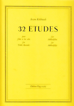 Kohlrusch, Aram - 32 Etudes - Altblockflöte
