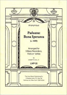 Anonymus - Paduana Bona Speranza - BBBBB