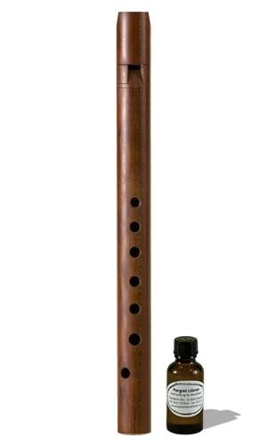 soprano recorder Löbner medieval, 442 Hz, maple/plum