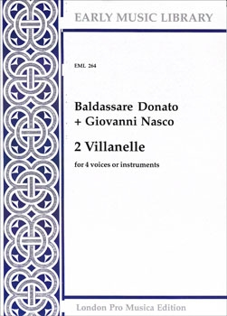 Donato, Baldassare /  Nasco, Giovanni - Zwei Villanelle - SATB