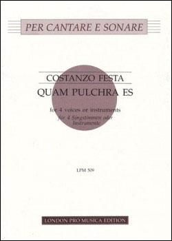 Festa, Costanzo - Quam Pulchra Es - SATB