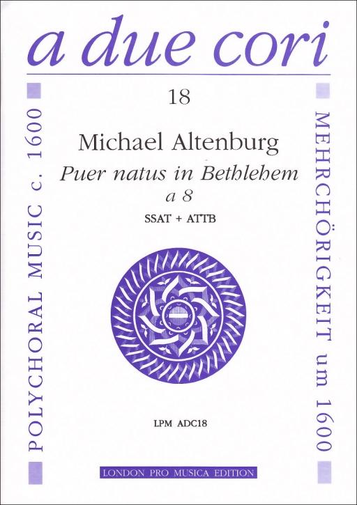 Altenburg, Michael - Puer natus in Bethlehem - Recorder Quartet SSAT + ATTB