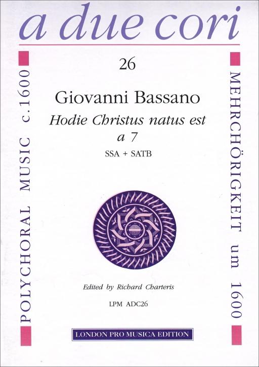 Bassano, Giovanni - Hodie Christus natus est - 3 Recorders SSA + SATB